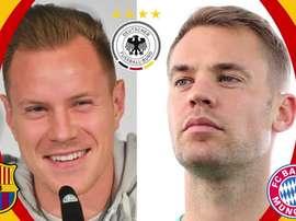 Ter Stegen y Neuer, futuro y pasado de 'Die Mannschaft'. DAZN