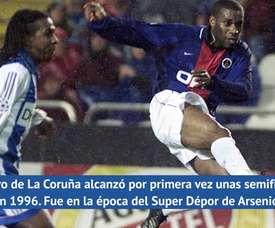El Deportivo jugó sus primeras semifinales europeas en 1996. DAZN