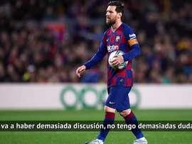 Messi, ídolo para Íñigo Martínez. DAZN