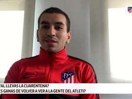 A Ángel Correa le hubiera encantado jugar junto a Forlán. DAZN