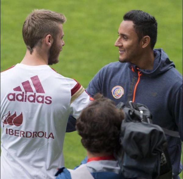De Gea con la Selección Española y Keylor Navas con la Selección de Costa Rica. Twitter