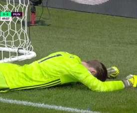 De Gea made a clanger as Watford scored twice in four minutes v Man Utd. Captura/DAZN