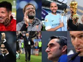 Os melhores treinadores do ano. EFE/AFP/FIFA