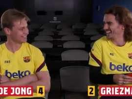 Duel De Jong-Griezmann autour du Clásico. Capture/FCBarcelona