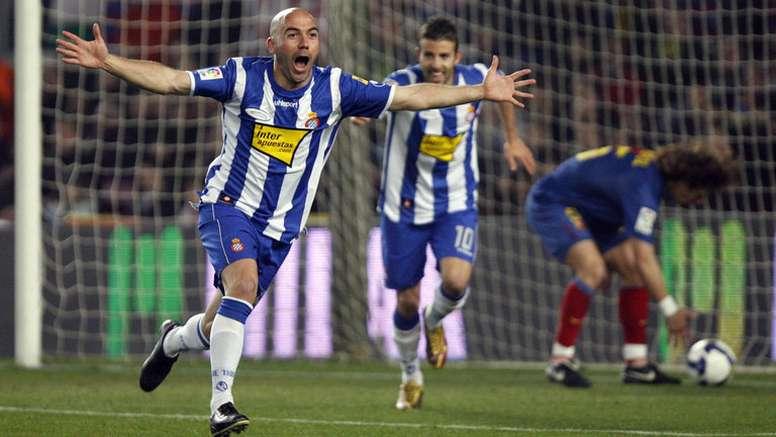 El doblete de De la Peña en el Camp Nou | Fuente: BeSoccer