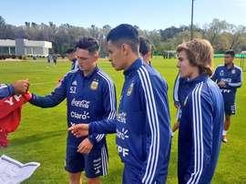 Pedro de la Vega entrenó por primera vez con Argentina Sub 20. Argentina