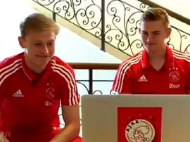 De Ligt et de Jong ont choisi Messi. AjaxTV