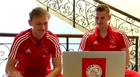 De Ligt y de Jon eligieron a Messi. AjaxTV