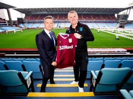 Dean Smith Aston Villa. Twitter/AVFCOfficial