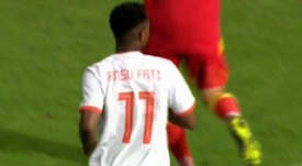 Ansu Fati impressed in his 15 minute debut for Spain U21. Captura/Cuatro