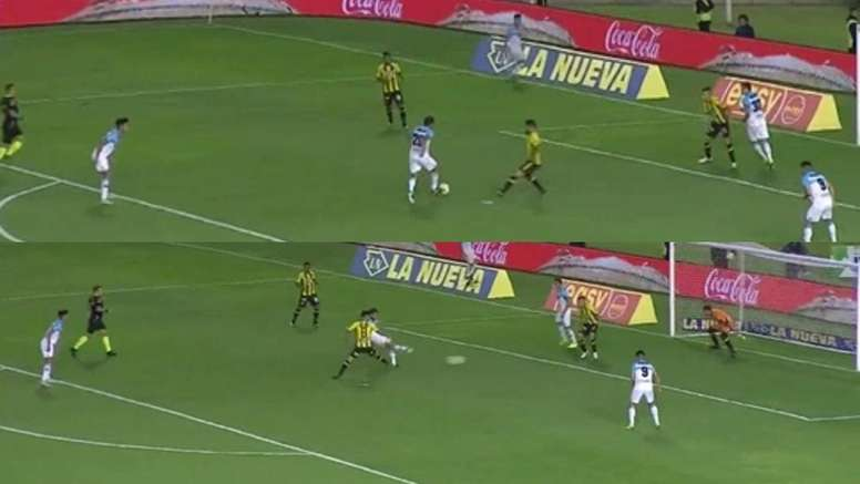 Debut y gol. Captura/TNT