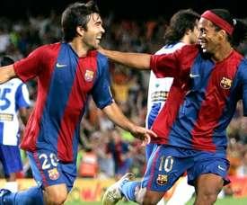 Deco, fan incondicional de Ronaldinho. EFE