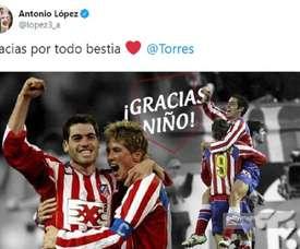 Les réseaux sociaux réagissent à la retraite de Torres. Captura/Lopez3_a