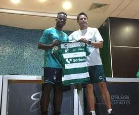 Déinner Quiñones solo había jugado en las divisiones inferiores de su país. SantosLaguna