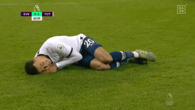 Dele Alli celebrated his goal for Tottenham.  Captura/DAZN