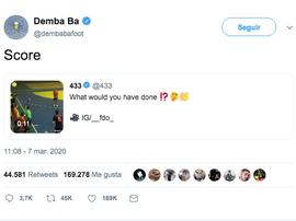 Demba Ba publicó un tweet bastante polémico. Twitter/dembabafoot