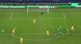 Dembele made it three in the first half. Screenshot/Movistar+LigadeCampeones
