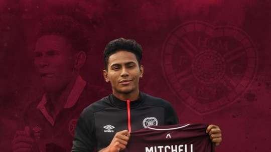 Mitchelle retrouvera Hearts. Twitter/JamTarts