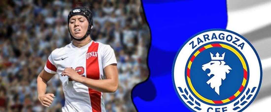 Denali Murnan, nueva jugadora del Zaragoza CFF. ZaragozaCFF