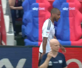 Odoi was sent off after picking up two yellow cards. Captura/SkySports
