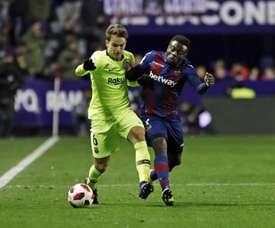 Denis jugo su duelo oficial número 70 con el Barça. FCBarcelona