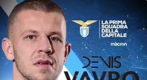 Vavro, nouveau joueur de la Lazio. Capture/Lazio