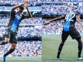 He celebrated like Ronaldo. Twitter/ClubBrugge
