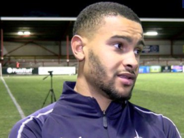 Dennon Lewis was racially abused by a section of Falkirk supporters. FALKIRKFC/TWITTER