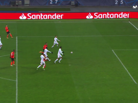 Dentinho made it 1-0. Screenshot/Movistar+LaLiga