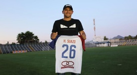Suazo fue presentado con su nuevo equipo. Twitter/DeporSantaCruz