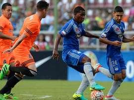 Deportivo La Guaira ganó 4-2 a Emelec en la ida de los dieciseisavos de final de la Copa Sudamericana. AFP