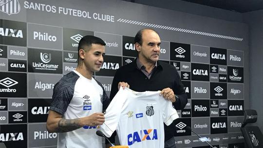 Derlis González, nuevo refuerzo del Santos. Twitter/SantosFC