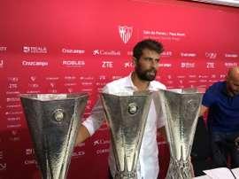 Sentido adiós de Coke al Sevilla. SevillaFC