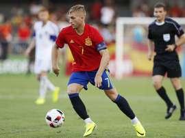 Deulofeu anotó el tanto español. UEFA