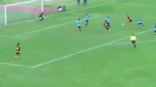 La joueuse du Venezuela a inscrit le 0-1 pour donner la victoire à sa sélection. capture/NorteTV