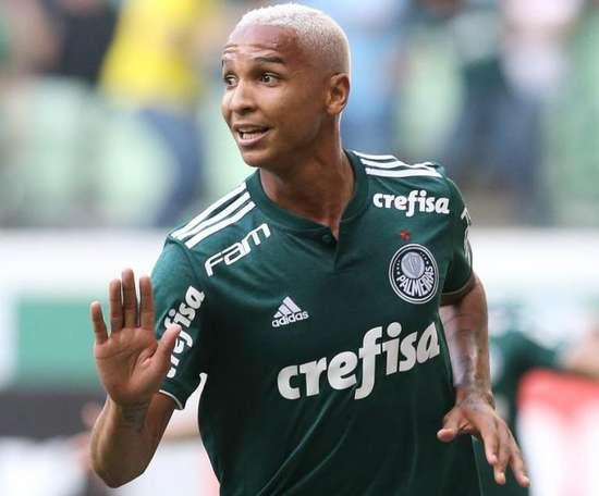 Deyverson atacante do Palmeiras. Twitter @Palmeiras