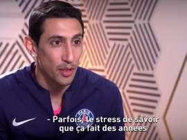 Di María aseguró que se quedó para ganar la Champions con el PSG. Captura/CanalFootClub