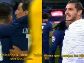 Di María insultait les joueurs du BvB. Capture/MovistarLigaDeCampeones