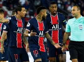 El escupitajo le cuesta cuatro partidos a Di María. AFP