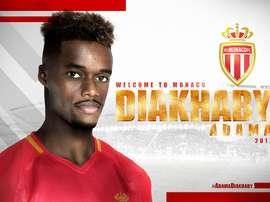 Diakhaby, o novo jogador do Monaco. Twitter/ASMonaco