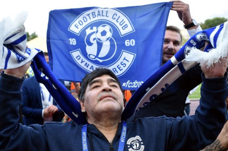 A surreal história de Maradona no Dínamo de Brest. AFP