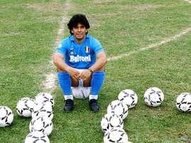 Maradona, futbolista irrepetible. SSCNapoli
