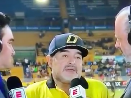 Maradona ne pouvait plus parler. Capture