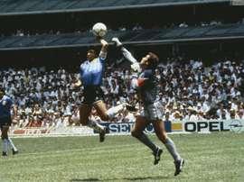 Maradona spoke about his goal. Archive