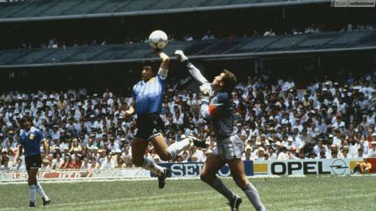 Maradona spoke about his goal. Archive