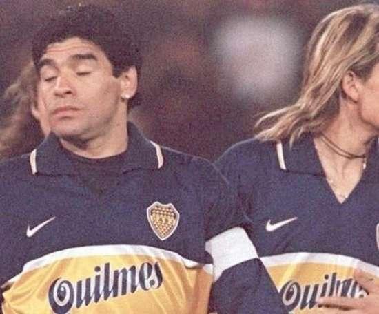 Luis Hernández jogou com Maradona no Boca Juniors. AFP