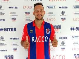 Diego Barbosa Tavares se incorporó al Paraná para aspirar al ascenso. ParanaClube