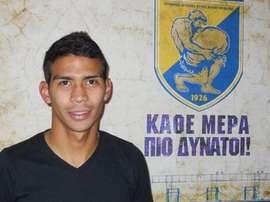 Diego Bejarano, cuando comenzó su etapa en Grecia. Twitter