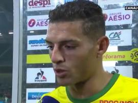 Diego Carlos volvió a vérselas con un árbitro. Captura/Canal+