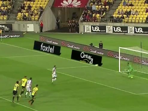 Diego Castro se equivocó al lanzar el penalti. Captura